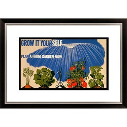 'Grow it Yourself Plan a Farm Garden Now' Framed Limited Edition Giclee
