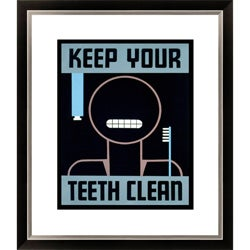 'Keep Your Teeth Clean' Framed Limited Edition Giclee
