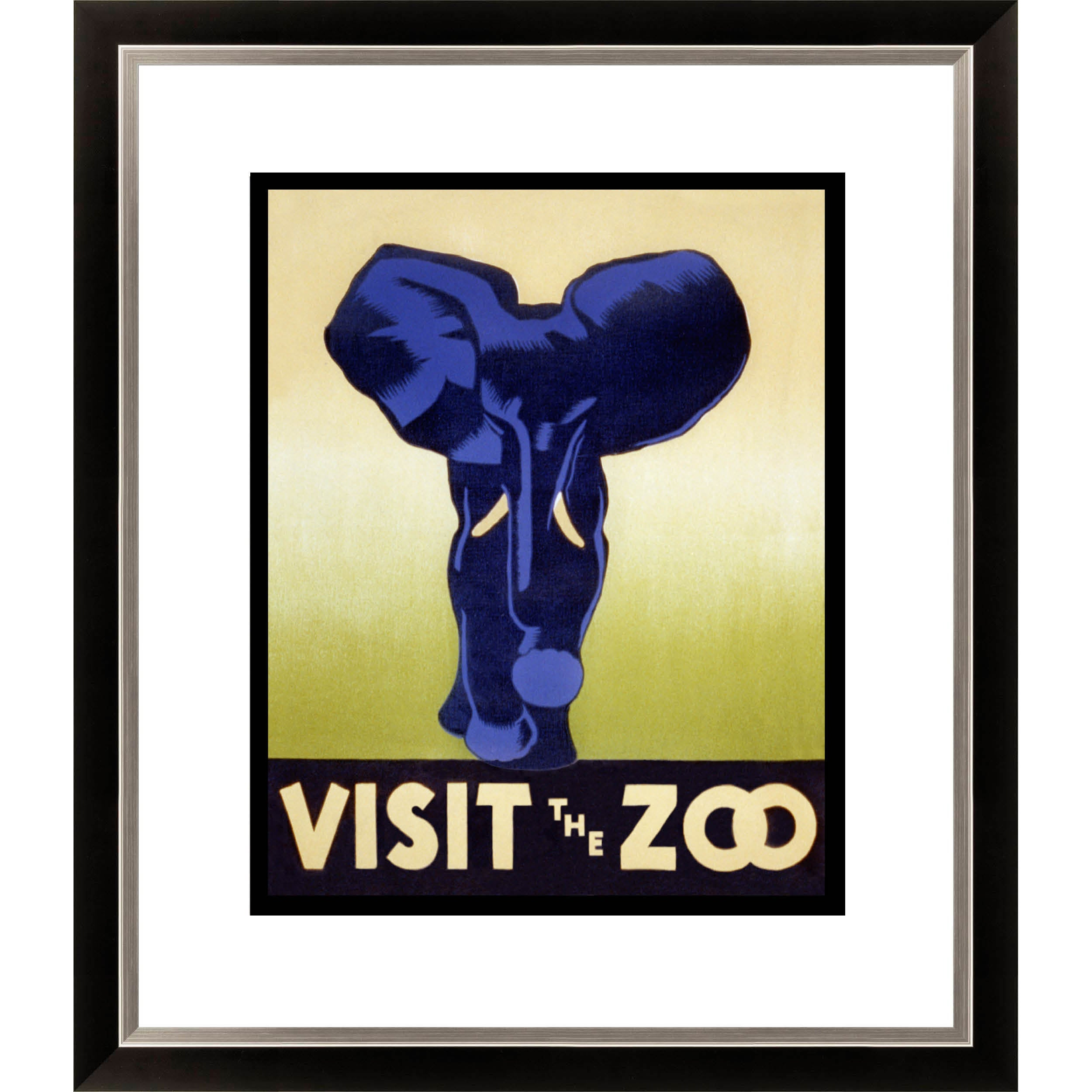 Gallery Direct 'Visit the Zoo' Framed Limited Edition Giclee