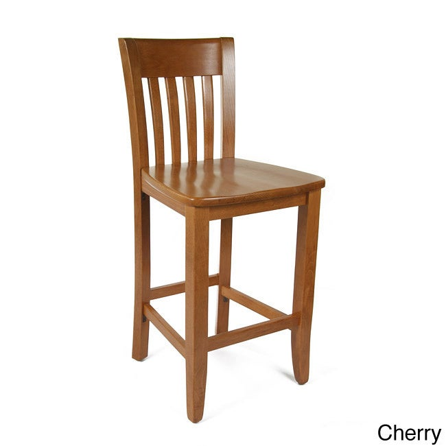 Counter Stool Dining Chair Kitchen Stools Wood Cherry Seat