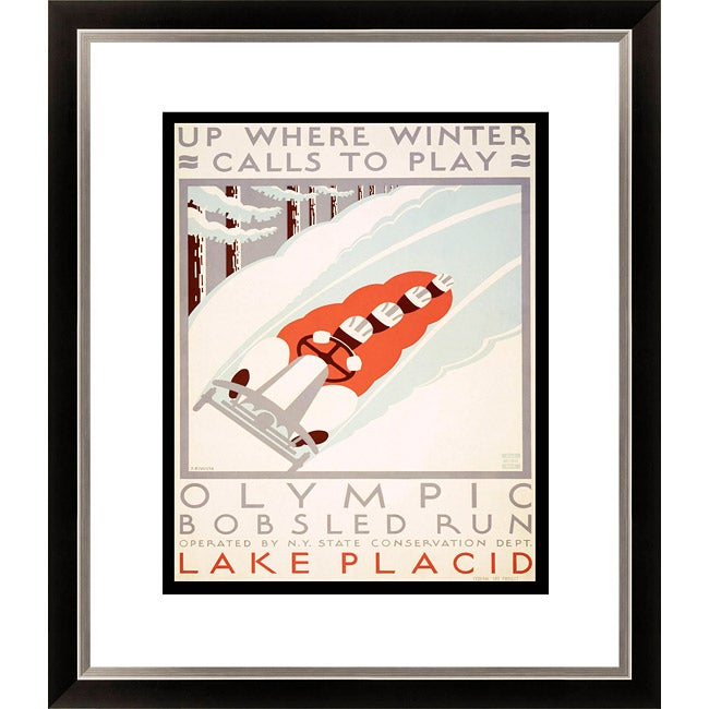 'Up Where Winter Calls to Play' Framed Limited Edition Giclee