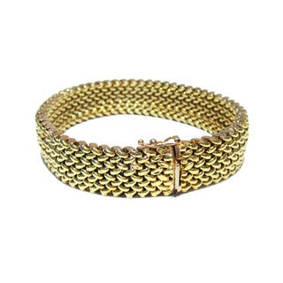14k Yellow Gold Italian Woven Estate Bracelet