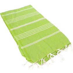 Turkish Green Stripe Fouta Bath/ Beach Towel