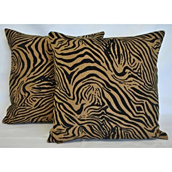 Sherry Kline 20-inch Jungle Zebra Pillows (Set of 2)