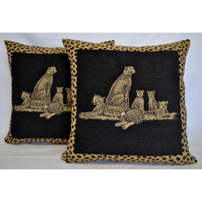 Sherry Kline 26-inch Jungle Cheetah Euro Pillows (Set of 2)