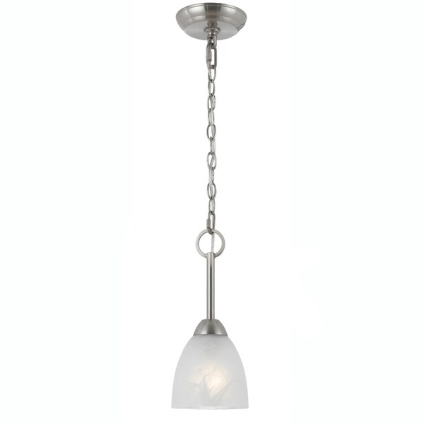 Transitional Satin Nickel 1-light Mini-pendant