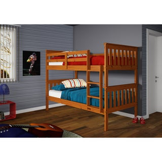 Mission Twin / Twin Bunk Bed in Honey