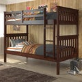 Mission Twin / Twin Bunk Bed in Cappuccino