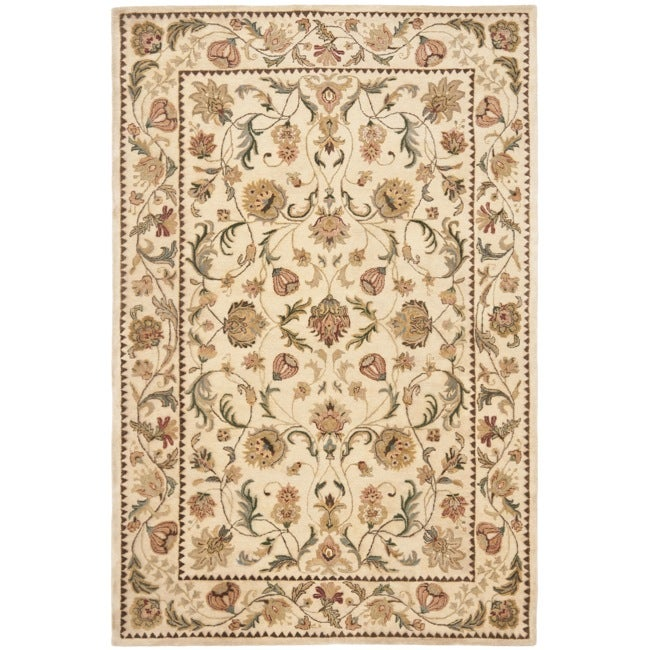 Safavieh Handmade Eden Ivory Hand-spun Wool Rug (8' x 10')