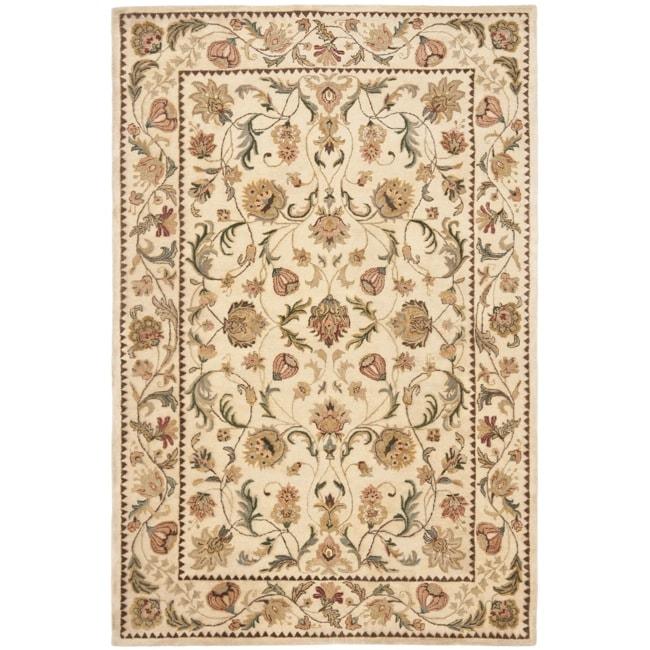 Safavieh Handmade Eden Ivory Hand-spun Wool Rug (9' x 12')