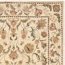 Handmade Eden Ivory Hand-spun Wool Rug (9' x 12')