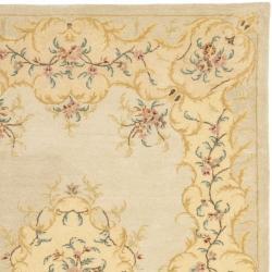 Safavieh Handmade Light Green/ Beige Hand-spun Wool Rug (8' x 10')