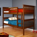 Donco Kids Twin/ Twin Espresso Finish Mission Bunk Bed