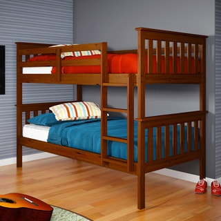 Twin/ Twin Espresso Finish Mission Bunk Bed