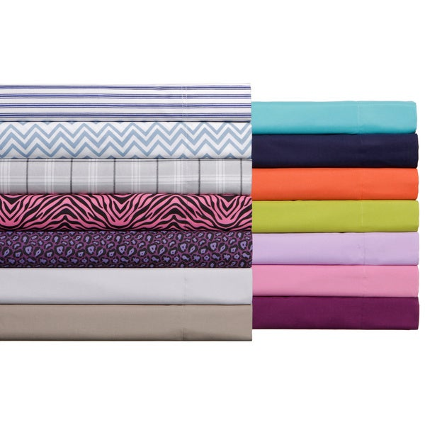 Expressions Solid or Printed Pattern Easy Care Sheet Set