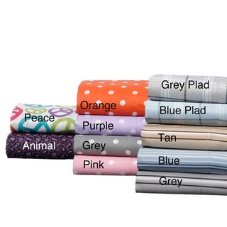 Expressions Easy Care Printed Microfiber Sheet Set