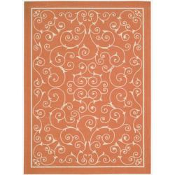 Nourison Home and Garden Indoor/Outdoor Orange Rug (10' x 13')