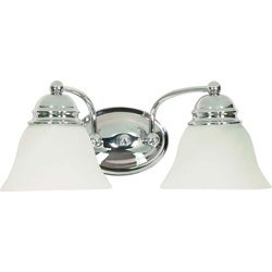 Empire 2 Light Polished Chrome With Alabaster Vanity