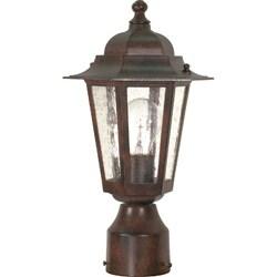 Cornerstone 1 Light Old Bronze w/ Clear Seed Post Lantern