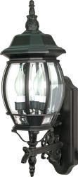 Central Park 3-light Textured Black/ Clear Wall Lantern