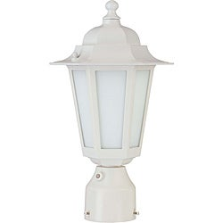 Cornerstone White with Satin White Glass 1-light Post Lantern