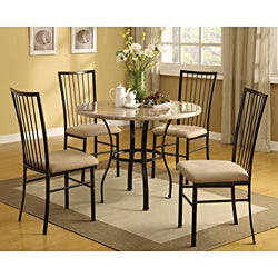 Darell Faux Marble Top 5-piece Pack Dining Set