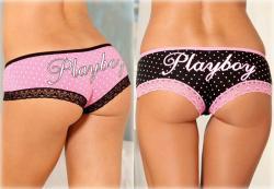 Playboy Intimates Women's Polka-dot/ Lace Hipster Panties