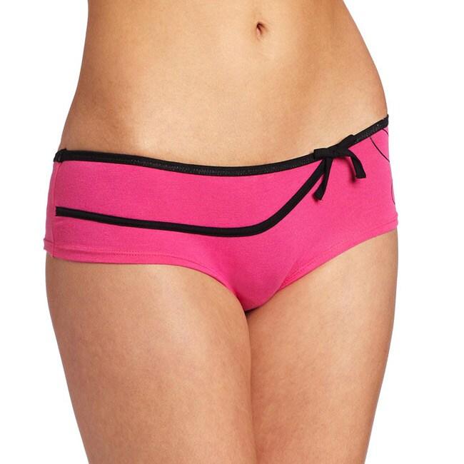 Playboy Intimates Fuchsia Bowed Hipster Panties
