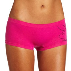 Playboy Intimates Women's Fuchsia Boyshorts