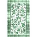Rooster Toile Green Area Rug (5 x 8)