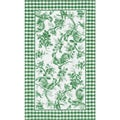Rooster Toile Green Area Rug (7'6 x 9'6)