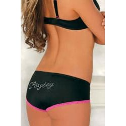 Playboy Intimates Women's Bra and Boy-leg Panties Set