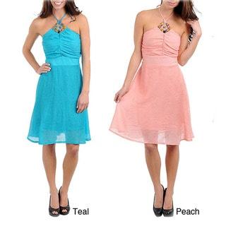 Stanzino Women's Embellished Halter Dress