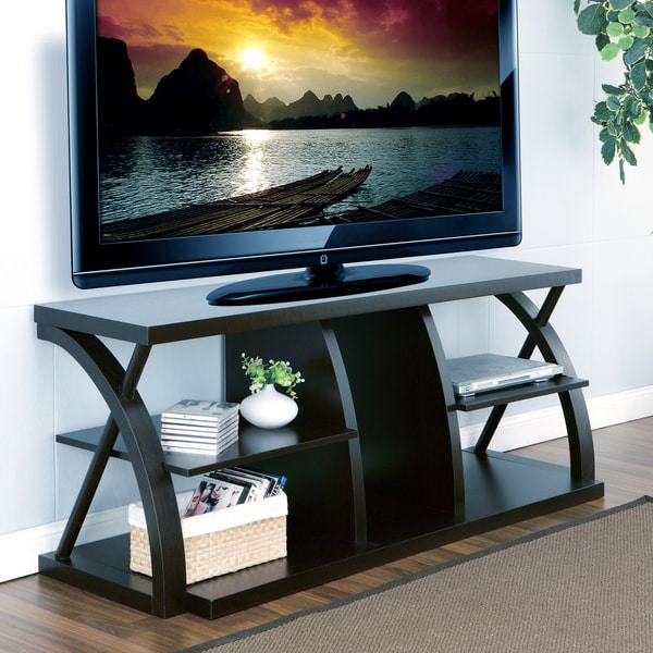 Furniture of America Princeton Dark Espresso 60 inch TV Stand