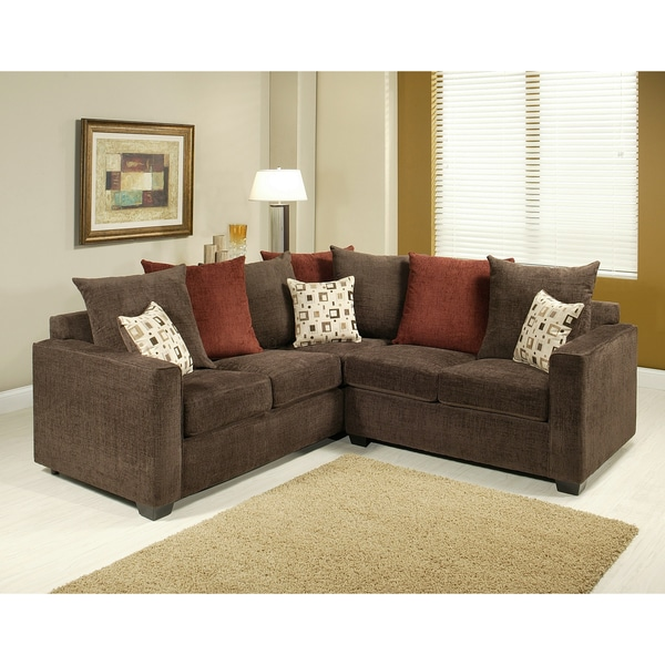 Furniture of America Evan 2 Piece Sectional Sofa Set