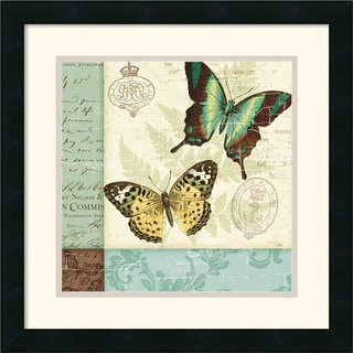 Pela Studio 'Butterfly Patchwork I' Square Framed Art Print