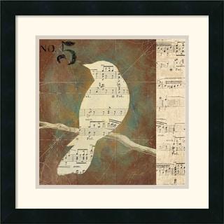 D. Salusti 'Bird Silhouettes II' Framed Art Print
