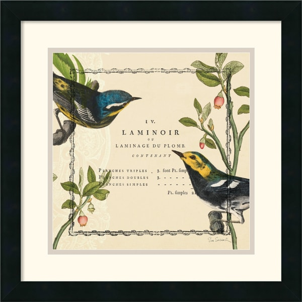 Sue Schlabach 'Summer Pages ll' Framed Matted Art Print