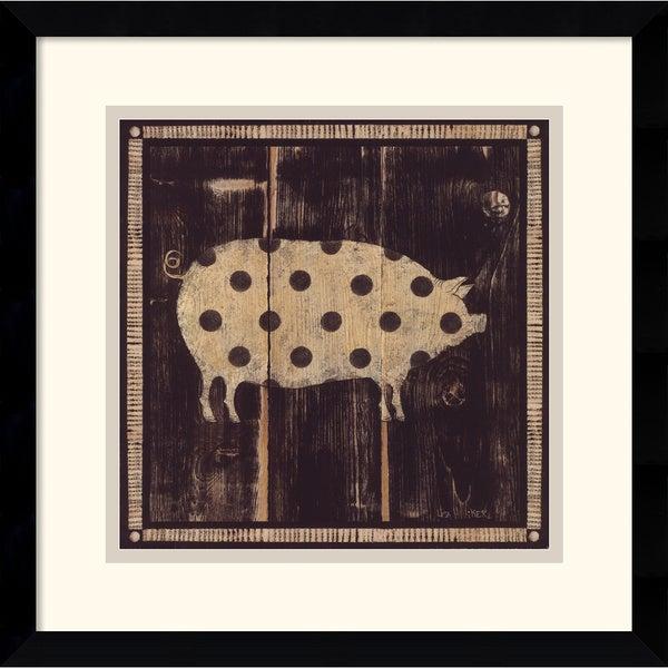 Lisa Hilliker 'Polka Pig I' Framed Art Print