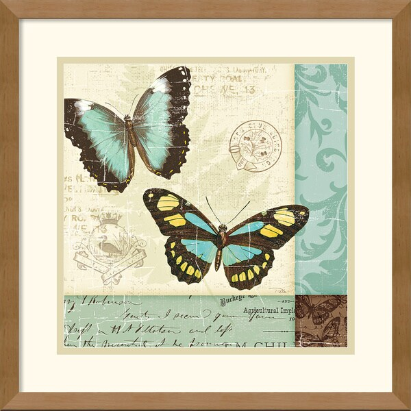 Pela Studio 'Butterfly Patchwork II' Framed Art Print