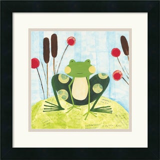 Nicole Bohn 'The Pretty Green Frog' Framed Art Print