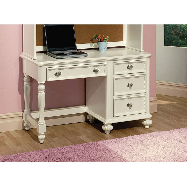 White Finish Athena Desk - 14332842 - Overstock.com Shopping - Big