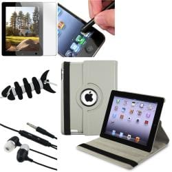 Grey Case/ Screen Protector/ Headset/ Wrap/ Stylus for Apple iPad 3