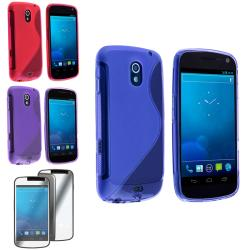 Blue/ Pink/ Purple Case/ LCD Protector for Samsung Galaxy Nexus i9250