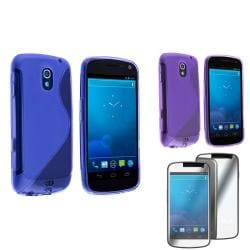 Blue/ Purple Case/ Screen Protector for Samsung Galaxy Nexus 4G i9250