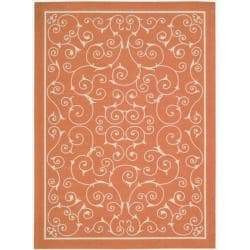 Nourison Home and Garden Indoor/Outdoor Orange Rug (5'3 x 7'5)