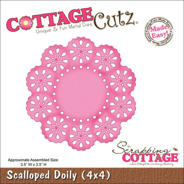 "CottageCutz Die 4""X4""-Scalloped Doily Made Easy"