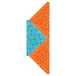 "GO! Fabric Cutting Dies-Quarter Square -4-1/2"" Finished Triangle"