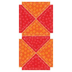 "GO! Fabric Cutting Dies-Quarter Square -3"" Finished Triangle"