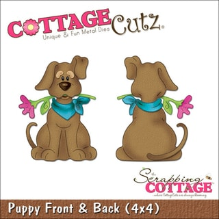 "CottageCutz Die 4""X4""-Puppy Front & Back"